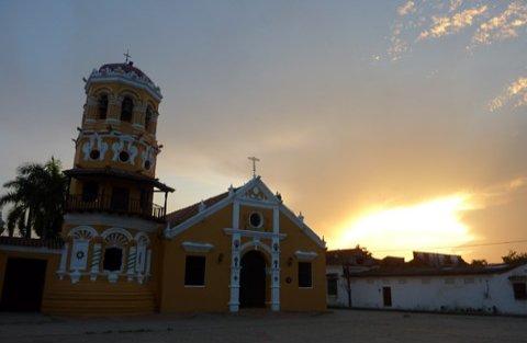Mompox Sunset Church
