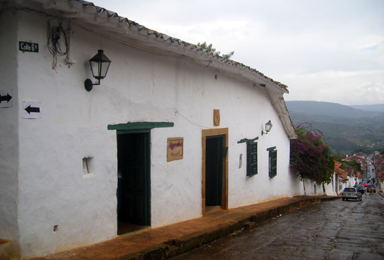 Outside Algarabia restaurant, Barichara