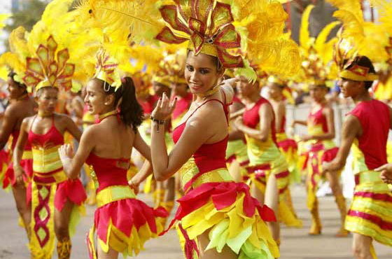 A colourful parade at the Barranquilla Carnival