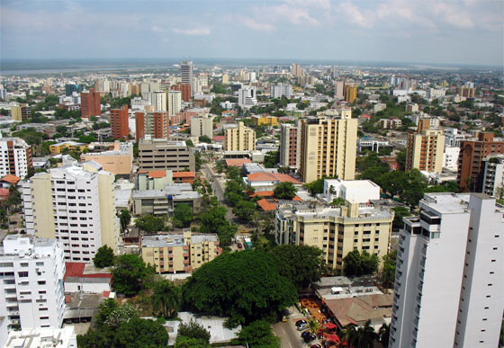 View over Barranquilla