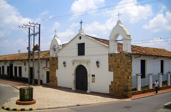 Small church called Capilla de los Dolores on Parque Rovira, Bucaramanga
