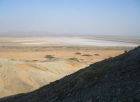 View over desert from Pan de Azucar hill
