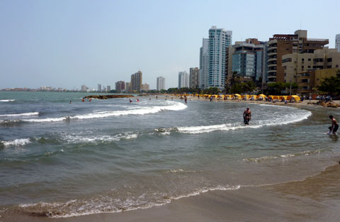 Bocagrande Beach, Cartagena