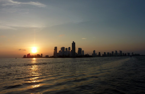 Sunset over Bocagrande, Cartagena
