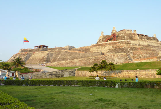 View of San Felipe Castle, Cartagena
