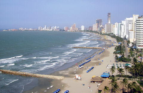View of Bocagrande Beach, Cartagena