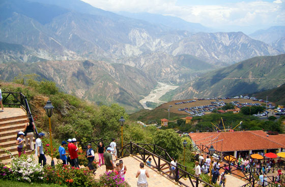 View into Chicamocha canyon