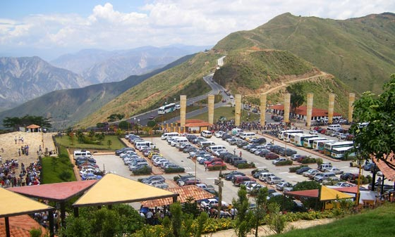 Car park at Parque Nacional del Chicamocha