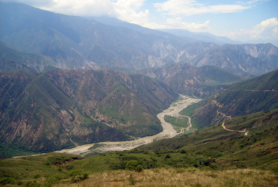 View of the Chicamocha Canyon in Santander