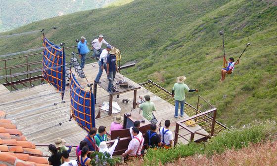 Chicamocha Park's popular zipline attraction