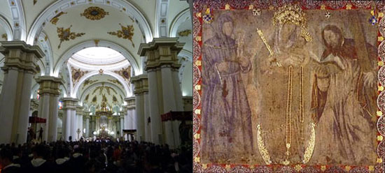 Painting of Virgen de Chiquinquira, Basilica