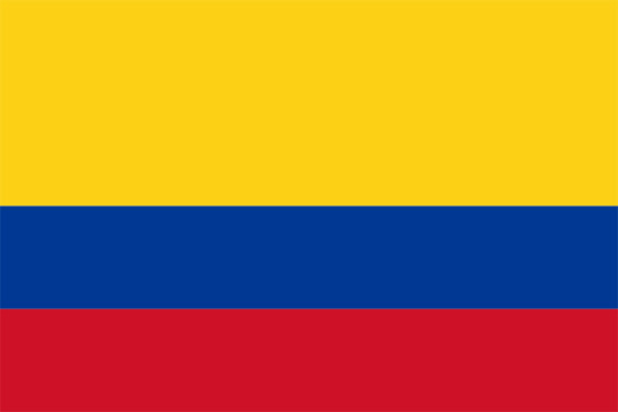 The official Colombia flag