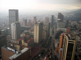 View from Edificio Colpatria, Bogota