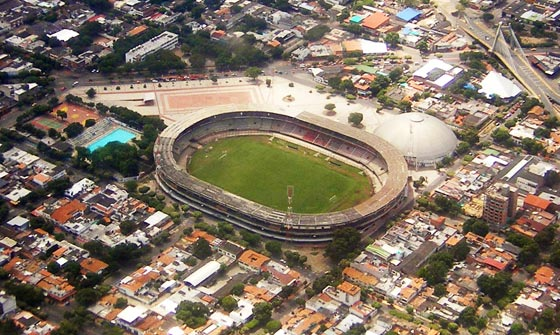 General Santander stadium from the air, Cucuta