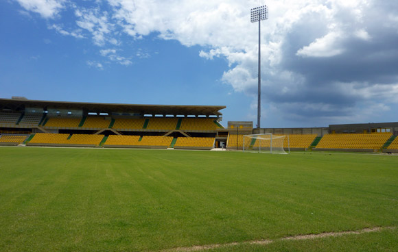 Northern end of Jaime Moron Stadium, Cartagena