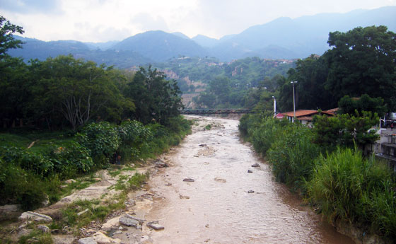 The 'River of Gold' runs along the edge of Giron