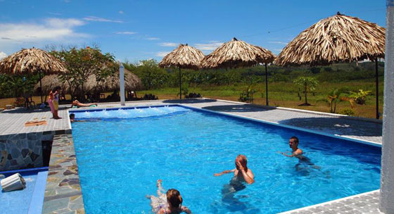 Outdoor swimming pool at Finca Azulinas