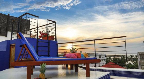 Rooftop terrace at Casa de Isabella, Santa Marta