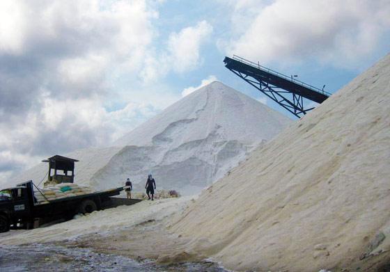 A typical salt mine at Manaure, La Guajira