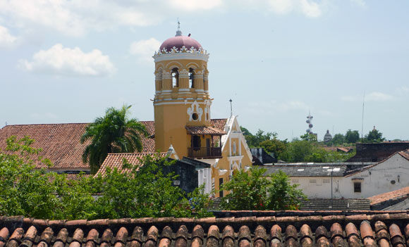 View from La Casa Amarilla terrace, Mompox