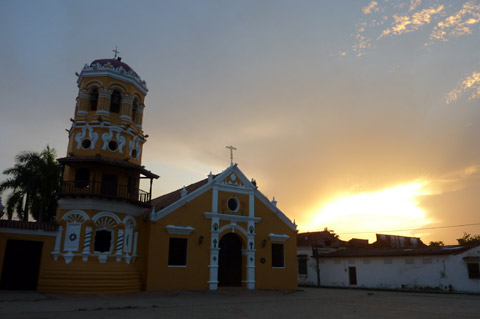 Mompox Sunset Church