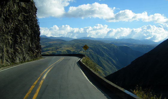 Dramatic views on the road between Pamplona and Bucaramanga