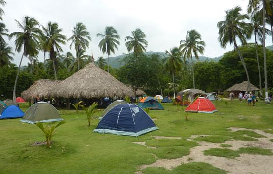 Camping in Parque Tayrona