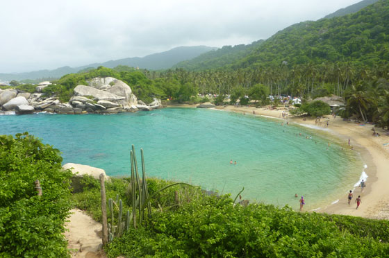 La Piscina beach, Parque tayrona