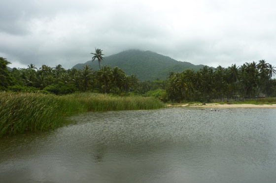 Lagoon on Arecifes beach, Parque Tayrona