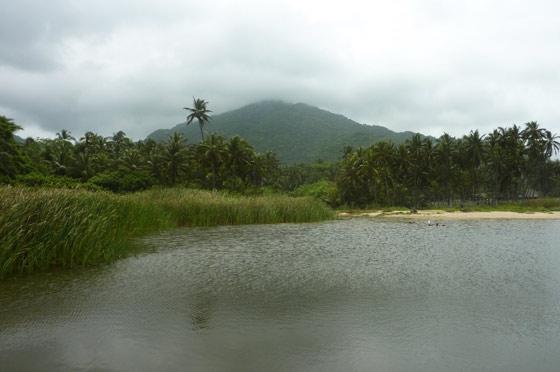 Lagoon on Arecifes beach, Parque Tayrona