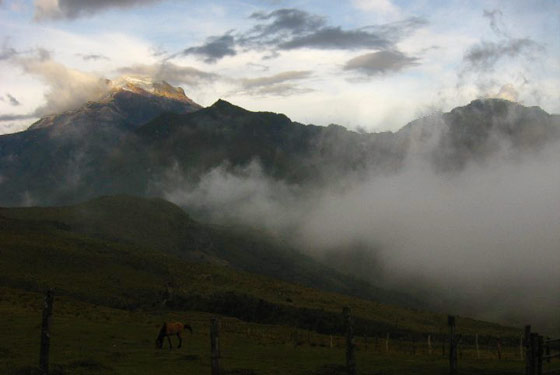 Nevado del Tolima at dawn