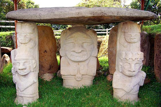 Ancient statues at San Agustin