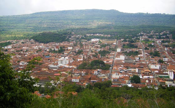 View over San Gil, Santander