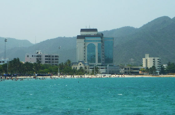 View of Santa Marta's main beach