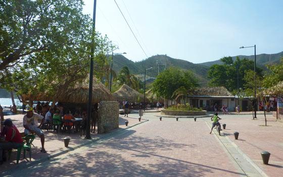Taganga's main beachfront street