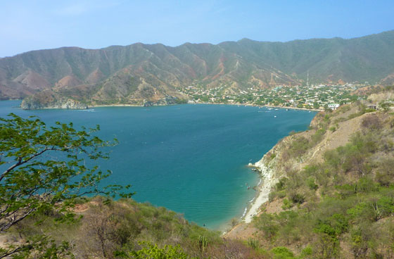 Taganga as seen from the road connecting it to Santa Marta