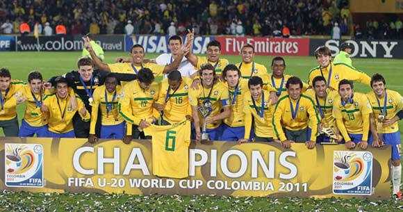 Brazil were crowned 2011 Under 20 World Cup champions