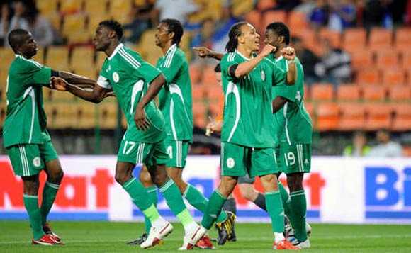 Free-scoring Nigeria celebrate yet another goal in the Group Stage of the Under 20 World Cup