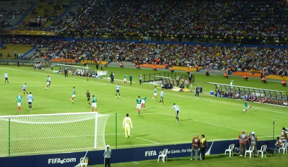 Argentina and Mexico during the Under 20 World Cup in Colombia