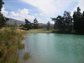A lake outside Villa de Leyva