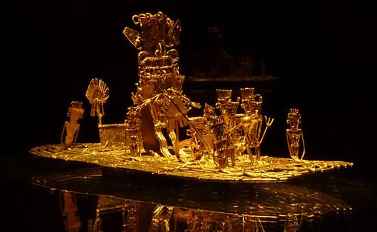 Exhibit at Gold Museum in Bogota