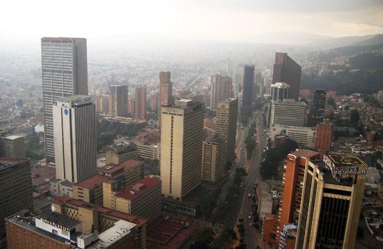 View from Edificio Colpatria, Bogota