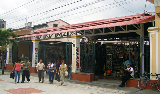 Shop selling religious souvenirs in Buga
