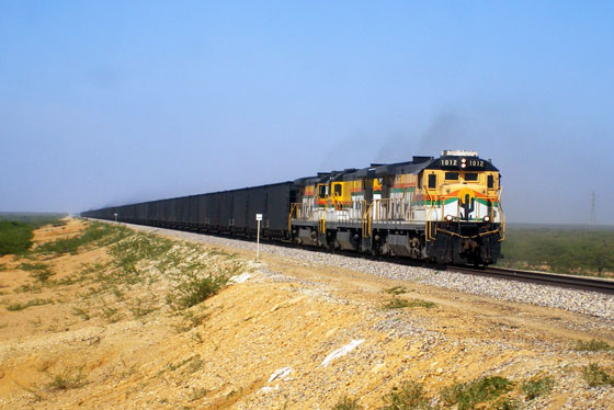 A train transporting coal, La Guajira
