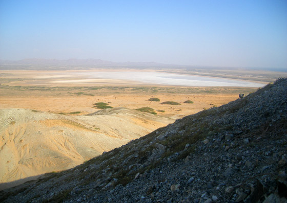 View over the desert and salt flats from Cerro Pan de Azucar