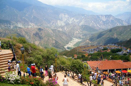 View into Chicamocha canyon