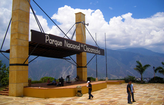 Entrance to the the Chicamocha Canyon National Park, Santander