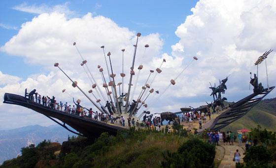 Monumento a La Santandereanidad in Parque Nacional del Chicamocha, Santander