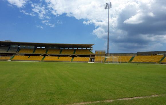 Northern end of Jaime Moron Stadium, Cartagena