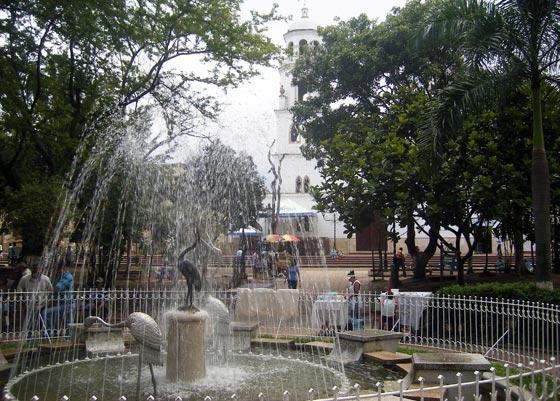Floridablanca's main plaza, Santander